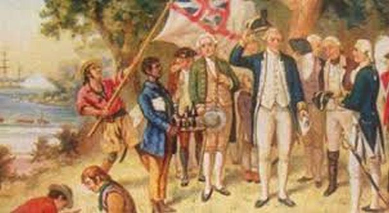 Captain James Cook & Flag